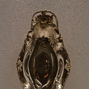SOLD Stunning Exquisite Art Nouveau Quadruple Silver Plated Floral Server Tray Signed C. 1884