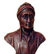 REDUCED Wonderful Vintage French Bronze Clad Statue of Dante Alighieri C. 1900-1930