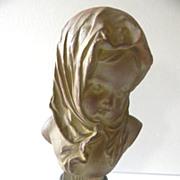 REDUCED Gorgeous Antique French Art Nouveau Bust of HIVER by Louis Kley C. 1880-1910