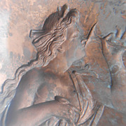 REDUCED Beautiful Antique Plaque or Mold of Classical Greek or Roman Goddess 1860-1900