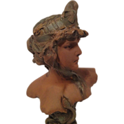 REDUCED Exquisite Art Nouveau Bust of Cleopatra by P Rigual 1900-1905