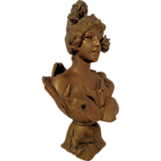 REDUCED Fine Antique French Art Nouveau Bust of WATER NYMPH by E Villanis C 1880-1910