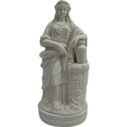 REDUCED Exquisite Antique English Parian Porcelain Statue of Rebecca at the Well C. 1860