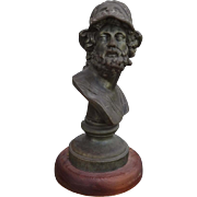 REDUCED Outstanding French Victorian Bust of Greek Mythological Warrior AJAX C. 1880