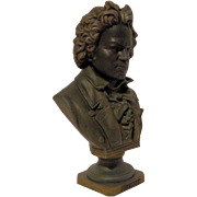 REDUCED Beautiful Antique Bronzed Bust of Beethoven C. 1900