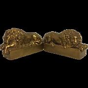REDUCED Exquisite Vintage Set of Antonio Canova Lion Bookends
