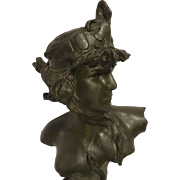 REDUCED Exquisite Large French Art Nouveau Bust of Cleopatre by Pedro Ramon Jose Rigual - Sign