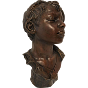 REDUCED Exquisite Extremely Rare Antique Terracotta Bust of a Neapolitan Street Urchin C. 1900