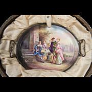 Rare Antique Austrian Viennese Enamel, Miniature Tea Service