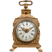 A good early 19th century french ormoly Grande Sonnerie Pendule D'officer clock