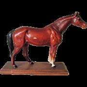 Hubley Cast Iron Horse on Platform  Decorative Art