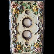 Circa 1930 Hubley Cast Iron Light Switch Plate