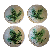 Four Circa 1900  Majolica Butter Pats