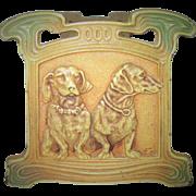 Circa 1930 Cast Iron Expanding Dachshund Book Rack Judd Manufacturing Company All Original Pai