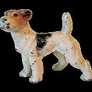 Vintage Cast Iron Hubley Terrier Dog Paper Weight