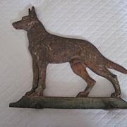 Old Cast Iron Doorstop German Shepherd Dog