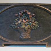 1930's Cast Iron Bradley & Hubbard  Flower Medallion Letter Holder