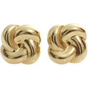 Gold Knot Stud Earrings | 14 Karat Yellow | Vintage Jewelry Israel