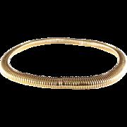 Gold Choker Necklace | 18 Karat Yellow | Vintage Switzerland Omega
