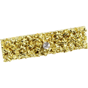 Diamond Gold Tie Clip | 18K Yellow Vintage | Liberia Africa Mens Retro