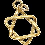 Magen David Pendant | 14K Yellow Gold | Vintage Israel Star Charm