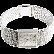 Retro Ladies Wrist Watch | 9K White Gold | Vintage British ETA Swiss