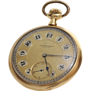 Audemars Freres Pocket Watch |14K Yellow Gold | Gents Swiss Antique