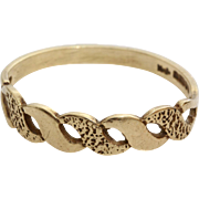 Vintage Wedding Ring | 9K Yellow Gold | Marriage Band England London