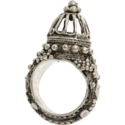 Ottoman Silver Ring | Antique Turkish Sterling | Yemen Marriage Ethnic