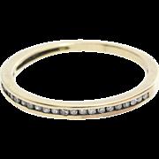 Diamond Wedding Ring | 14K Yellow Gold | Marriage Band Vintage Round