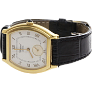 Chopard Mens Watch   18K Yellow Gold   Vintage Leather Strap Ref. 2246