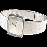 Patek Philippe Mens Watch | 18K White Gold Diamond | Swiss Vintage