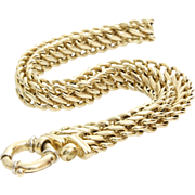 Gold Chain Link Necklace | 14K Yellow White | Italy Vintage Byzantine