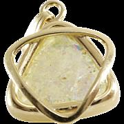 Magen David Pendant | Roman Glass 14K Gold | Vintage Israel Yellow