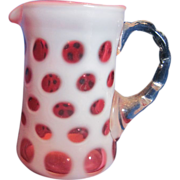 Fenton Coin Dot Pitcher