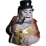 Majolica Tobacco Jar/Humidor
