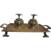Double Inkwell/Pen Stand