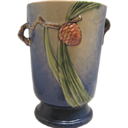 Roseville Pottery Blue Pinecone Vase
