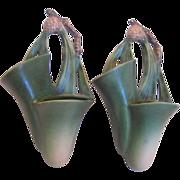 Roseville Pottery Pair Wall Pockets