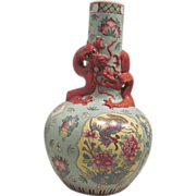 Chinese Export Famile Rose Vase
