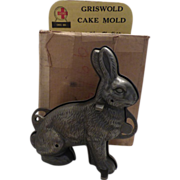 Griswold Rabbit Cake Mold