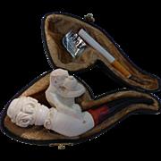 Meerschaum Pipe with Monkey