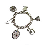 Vintage Danecraft Sterling Wedding Charms Bracelet