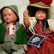 Pr. of  Schildkrot Celluloid dolls