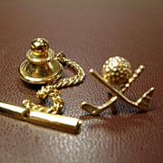 10K Gold Golf Tie-Tac or Lapel Pin