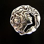 Sterling Art Nouveau Pendant