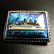 """Empress of Scotland""  Butterfly Wing Sterling Brooch"