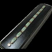 10K Jade Link Bracelet