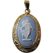 Superb 14K and Wedgwood Pendant