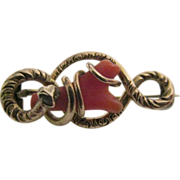 Victorian G.F. Wrapped Coral Brooch